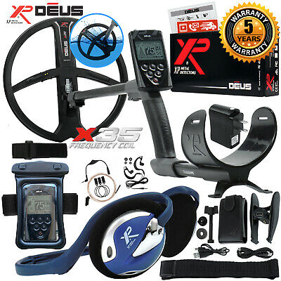 "XP Deus Metal Detector with Wired Backphone, Remote, 11"" Coil and Waterproof Kit"