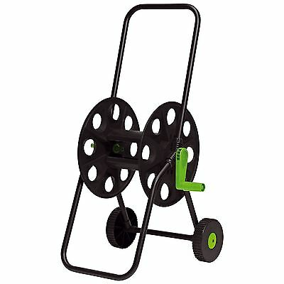 50m Hose Pipe Reel Holder Trolley Cart Garden Water Portable Free Standing New