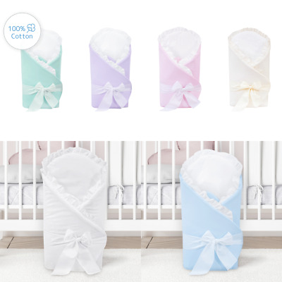 Baby Swaddling /  Cotton Swaddle Wrap Blanket Quilt for Newborn Babies