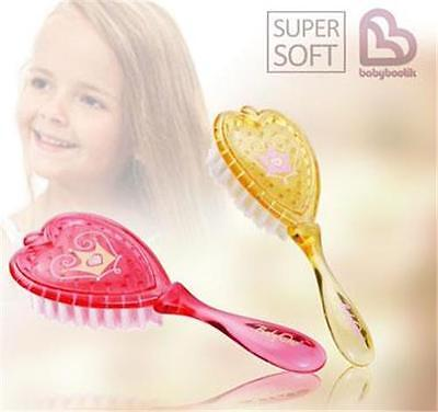 Soft Bristle Princess Hair Brush For Baby Girl Boy In Pink & Yellow