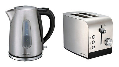 Morphy Richards Accents Kettle And Toaster Set In Brushed S/Steel 43902 / 44208