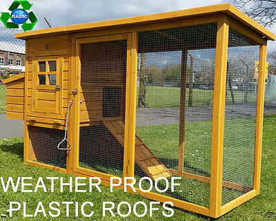 Eco 2000 Chicken Coop Run Hen House Poultry Nest Box Coops Rabbit Hutch Plastic