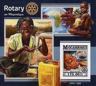 Mozambique 2015 MNH Rotary International 1v S/S Medical Clean Water Education