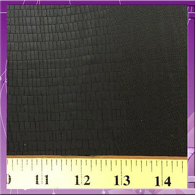 Crocodile Skin Design Pleather Fabric 58 Inches Wide Sold By The Yard Black