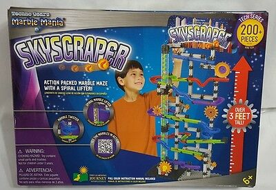New Techno Gears Marble Mania Skyscarper 200+ Pieces Over 3 Feet Tall Build Toy
