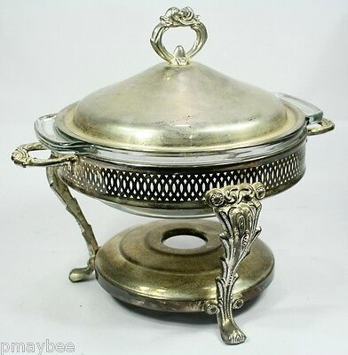 Silver vintage usa casserole HD covered Oneida
