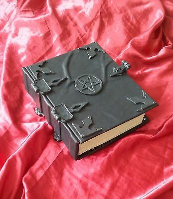 400 page Leather Inverted Pentacle book of shadows Spell book Grimoire Diary
