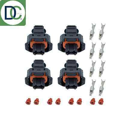 4 x Diesel Injector Plug / Electrical Connector for Renault Trafic 1.9 DCI Bosch