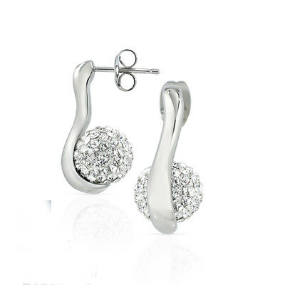 Morellato Luminosa Silver Stud Earrings With Swarovski Crystals - SAET05
