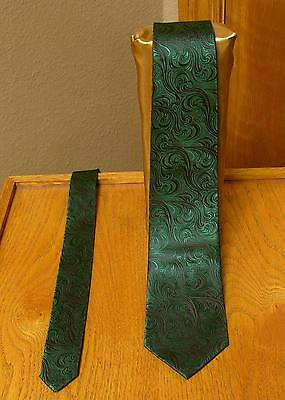 Emerald Green Neck Tie Mens Patterned Imperial Suit Wedding Prom Groom  Tuxedo