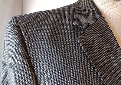 Mens Blazer Sport Coat Suit Jacket Geoffrey Beene Gray Taupe 44R 100% Wool