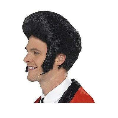 1950's Quiff Wig Adult Mens Pompadour Elvis Costume Accessory Fancy Dress
