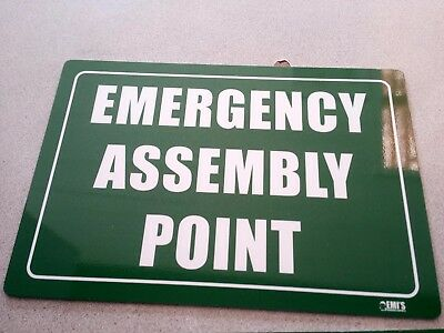 Emergency Assembly Point or Area Metal Sign 450x300 mm