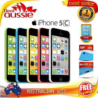 [NEW SEALED BOX] APPLE iPHONE 5C 16GB OFFICIAL UNLOCKED MOBILE PHONE + OZ WTY