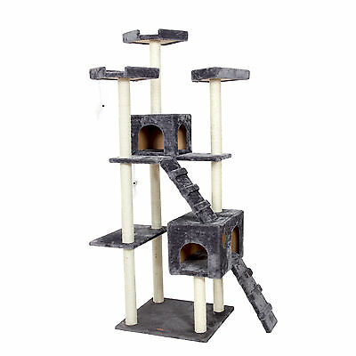 Cat Tree Scratching Post Condo Large Furniture Gym Tower Kitten Play Toy 182CM