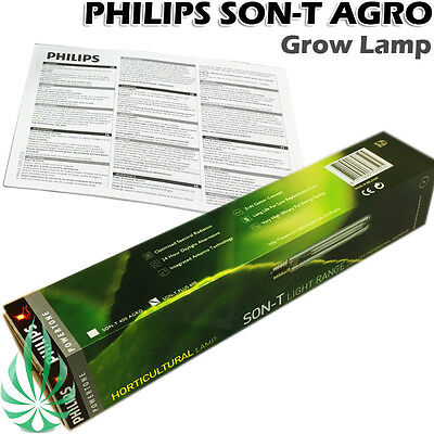 Philips 600W Son-T Agro Hydroponic HPS Grow Lamp High Pressure Sodium Full Stage
