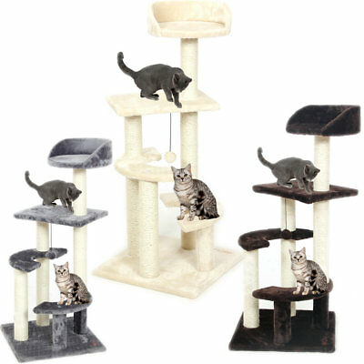 100CM Cat Tree Scratching Post Pole Gym Furniture Multi Level Pet Cat Play Toys