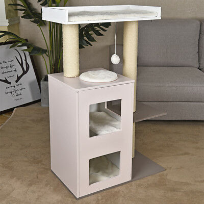Pet Cat Luxury Cat Tree Tower Condo Scratcher Pet Furniture Kitten House Grey