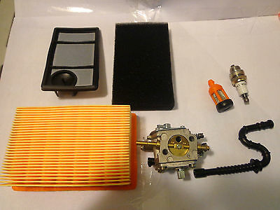 Stihl ts 400 Carburetor air filter kit spark plug fuel line & fuel Filter