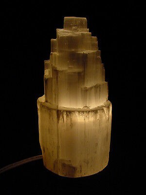 BUTW Morrocan Selenite tower lapidary crystal night light lamp 1813P