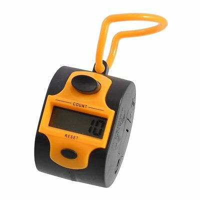 HE Orange Black Plastic 5 Number Golf Digital Hand Tally Counter