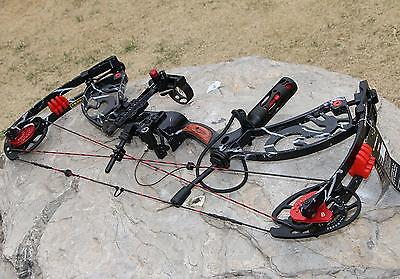IRQ Compound Bow Right Hand Red Hunting Bow & Archery Set 40-60Lbs