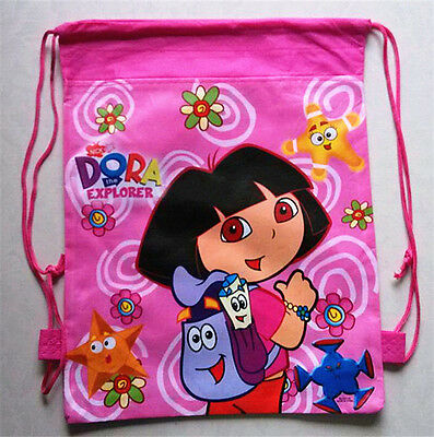 Dora the explorer swimming backpack boys girls school bag cartoon drawstring bag