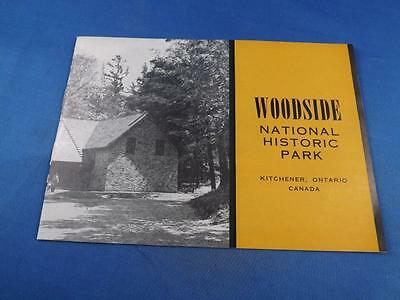 Woodside National Historic Park Souvenir Booklet Info Kitchener Ontario Canada