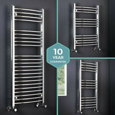 Bathroom Heated Towel Rail Radiator Curved Ladder Warmer Central Heating Chrome