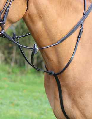 Shires Aviemore Leather Running Martingale - Black, Havana - All Sizes