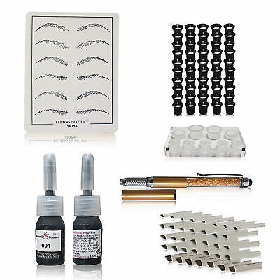 Microblading Handmethode Manuell Pen Härchenzeichnung Permanent Make Up 2er Set1