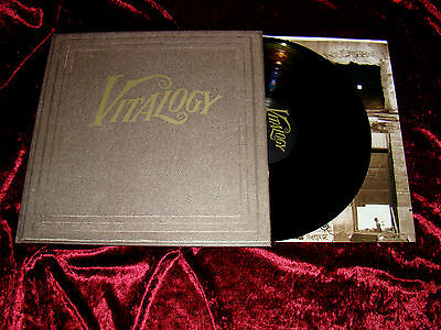 "Vinyl 12"" PEARL JAM VITALOGY LP 1st Press With Booklet Ed Vedder Grunge Nirvana"