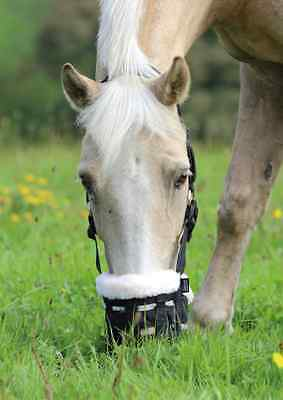 Shires Deluxe Comfort Grazing Muzzle Fully Adjustable With Synthetic Wool