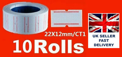 10 Rolls WHITE Price Label for MX-5500 Price Tag Gun labeling