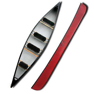 Four Man / Seat Canadian Canoe - 16ft / 486cm Long - Red - Riber 16