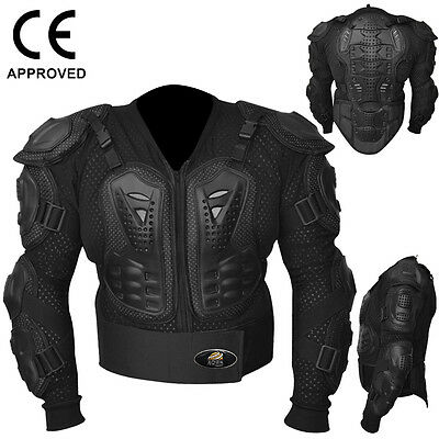 AQWA Motocross Motorbike Body Armour Motorcycle Protection Guard Jacket, Black