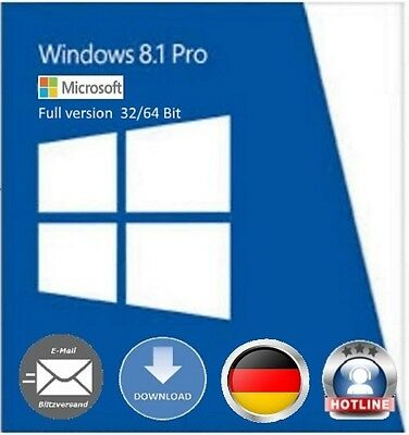 Windows 8.1 Professional 32 / 64 Bit OEM Key Schlüssel Multilingual Vollversion