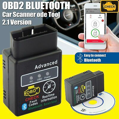HH Bluetooth Car OBD2 ELM327 V2.1 Torque Android OBD Engine Fault Code Scan Tool