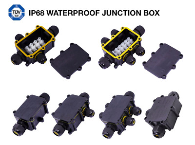 Waterproof Junction Box Connector Outdoor 240v Mains Underground IP68 Electrical