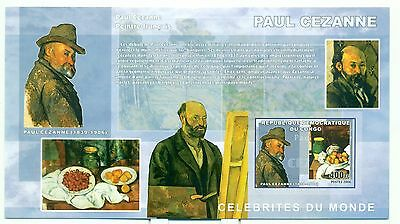 P. CEZANNE - CONGO 2006 block imperforated