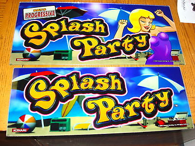 Splash Party  Casino Slot Glass Set Of 2   Pool Party , Man Caveglass