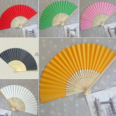 Chinese hand Held Fan Carved Bamboo Papper Folding Mini Fan Summer transparent