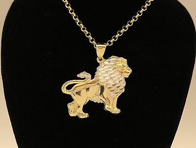 10K Solid Gold Lion Pendant - 4 grams *New in Box*