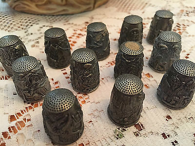 Grimm's Fairy Tales Thimbles from Franklin Mint (12)