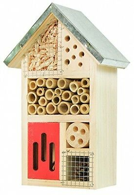 NiteangeL Mason Bee House Wooden Insect Hotel Bug For Bee Ladybirds Lacewings