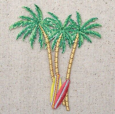 Palm Trees - Surf Boards - Tropical/Beach - Iron on Applique/Embroidered Patch