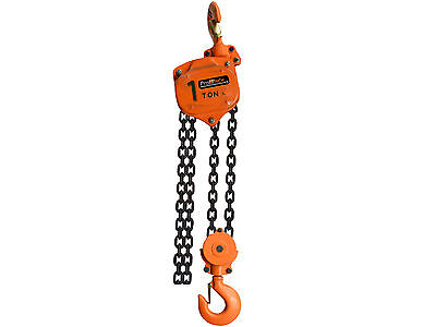 1 Ton Manual Chain Hoist Overload Protection G100 chain 20 ft PWV1Tp