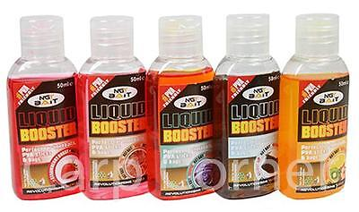 5x 50ml Liquid Glugs Booster Bait Additive PVA Boilie For Carp Coarse Fishing