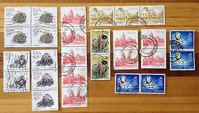Assorted Stamps from Republic of South Africa - Joiners - Blocks