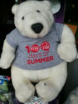 "Coca Cola 100 Days of Summer White Bear 10"" NEW SEALED IN BAG"